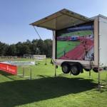 Das bestens vorbereitete Stadion in Löwenberg